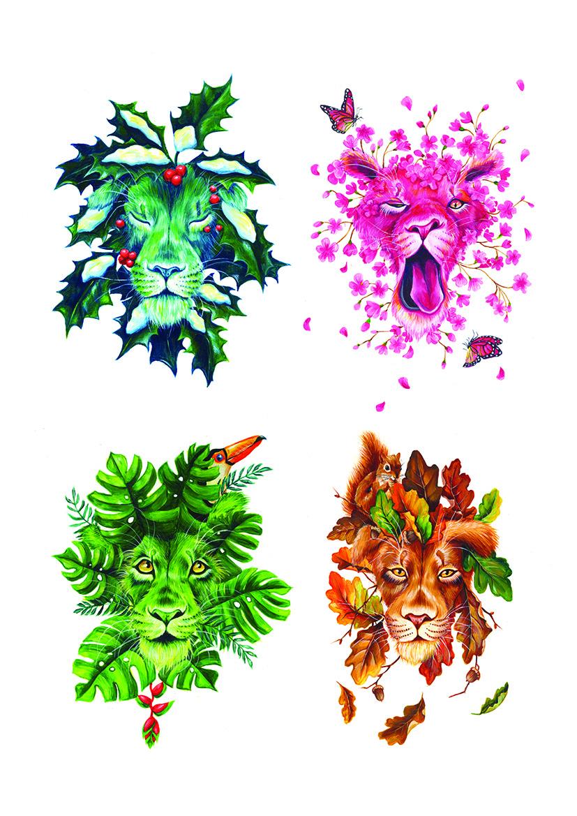 Seasons lions illustration Yuliya Pankratova.jpg