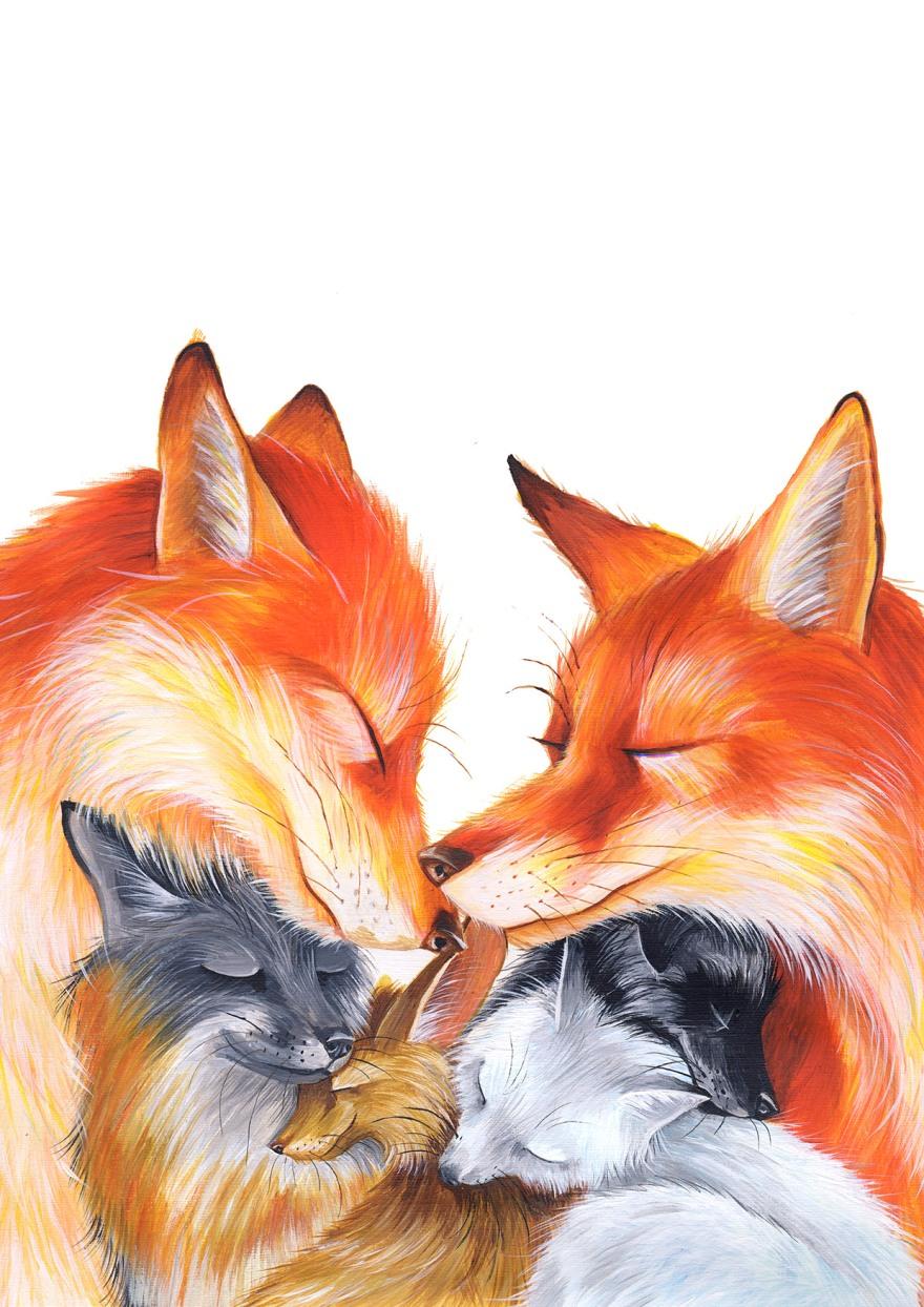 Yuliya Pankratova - Fox family.jpg