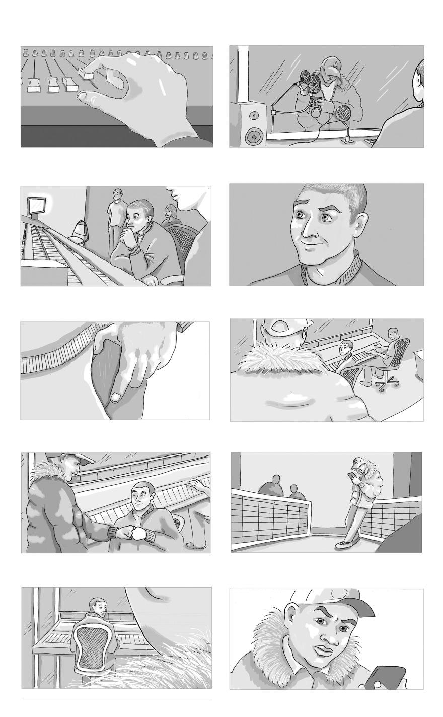 Trainline Storyboards Yuliya Pankratova