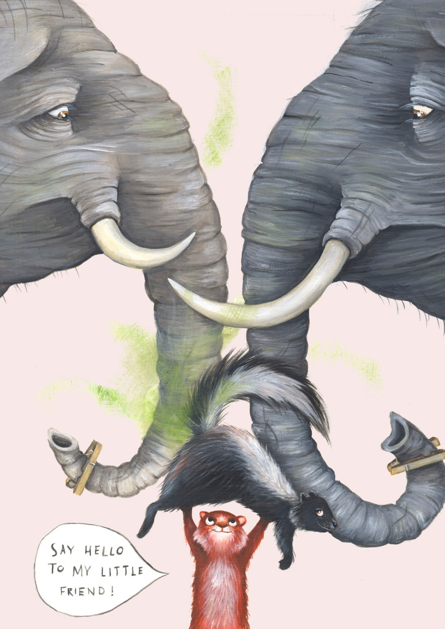 Squirrel and elephants - Yuliya Pankratova.jpg