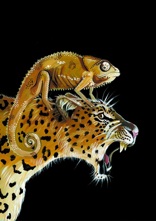 Yuliya_Pankratova_Leopard and chameleon.jpg